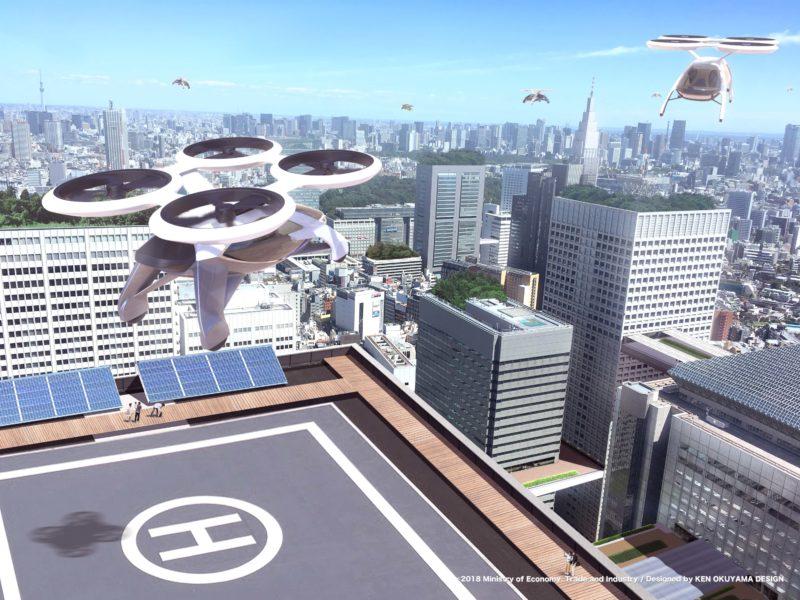 空飛ぶ車:都市の渋滞を避けた通勤手段