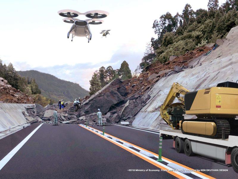 空飛ぶ車:災害時の救急搬送や物資輸送