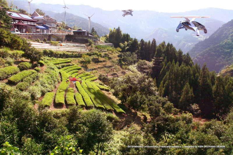 空飛ぶ車:山間部での新しい移動手段
