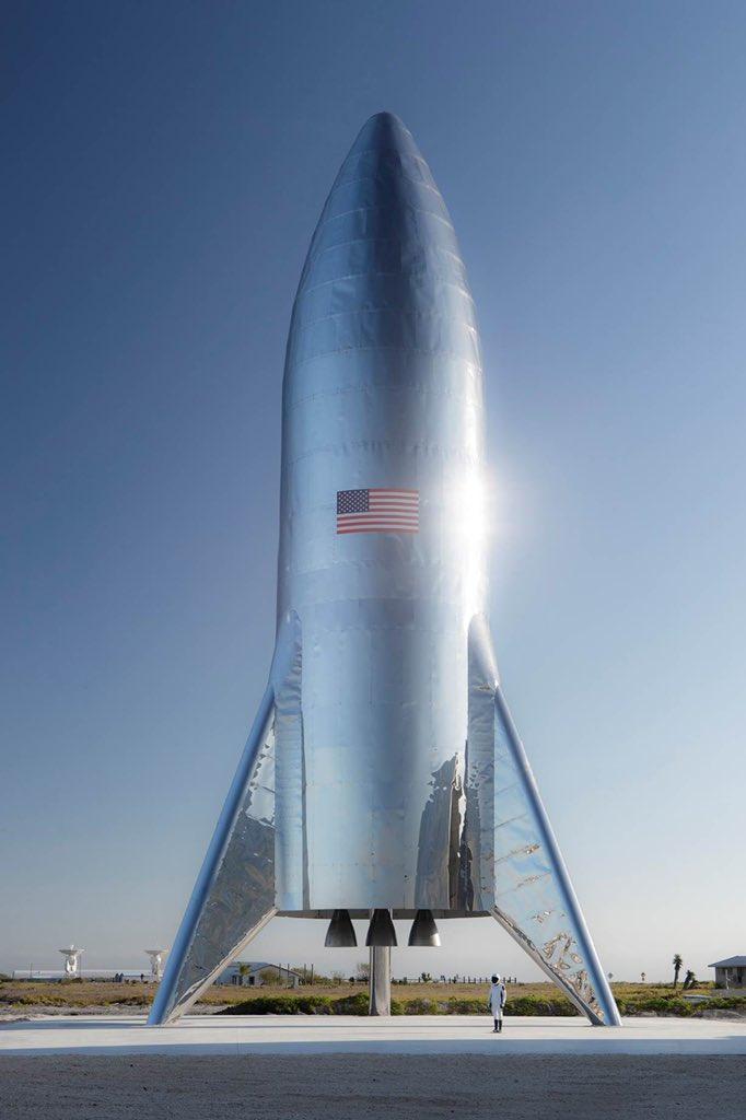 SpaceX Starship(Elon Musk氏のツイッターより )