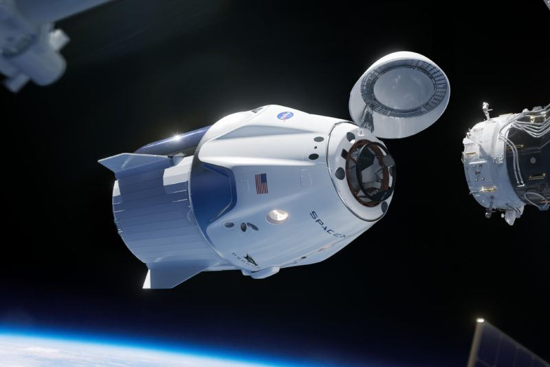 SpaceX Dragon2 ISSドッキングイメージ