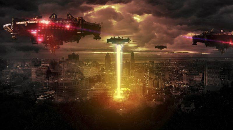 宇宙人の侵略イメージ