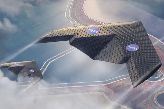 SF映画に登場するような全翼機(NASA Ames Research Center、Eli Gershenfeld氏より)
