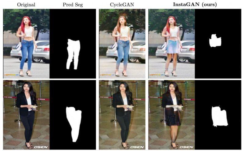 パンツからスカートへ着せ替え画像